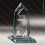 Glass Jade Accented Arrowhead Excalibur Trophy Award Starphire Accented Glass Awards