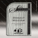 Glass Silver Accented Rectangle Incurvate Trophy Award Starphire Accented Glass Awards