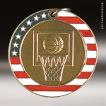 Medallion Stars & Stripes Series Basketball Medal Stars & Stripes Medallion Awards