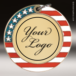 Medallion Semi Custom Series Medal - Stars & Stripes Insert Your Logo Stars & Stripes Medallion Awards