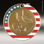 Medallion Stars & Stripes Series Football Medal Stars & Stripes Medallion Awards