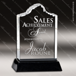 Acrylic Black Accented Peak Ice Berg I Trophy Award Stone Accented Acrylic Awards