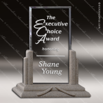 Acrylic Stone Accented Rectangle Moonstone Billboard Trophy Award Stone Accented Acrylic Awards