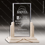 Acrylic Stone Accented Rectangle Sandstone Billboard Trophy Award Stone Accented Acrylic Awards