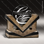 Glass Stone Accented Circle Monarch Trophy Award Stone Accented Glass Awards