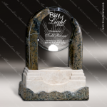 Glass Stone Accented Arch Encompass Trophy Award Stone Accented Glass Awards