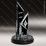 Glass Black Accented Summit Trio Trophy Award Stone Accented Glass Awards