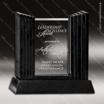 Glass Black Accented Rectangle Achieva Trophy Award Stone Accented Glass Awards