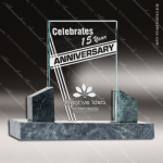 Glass Jade Accented Rectangle Imperial Trophy Award Stone Accented Glass Awards
