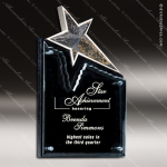 Glass Black Accented Aristocratic Star Trophy Award Stone Accented Glass Awards