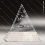 Glass Stone Accented Triangle The Summit Trophy Award Stone Accented Glass Awards