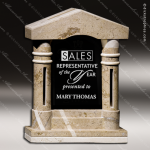 Glass Stone Accented Rectangle Ambassador Trophy Award Stone Accented Glass Awards