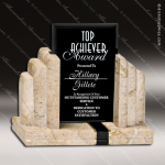 Glass Stone Accented Rectangle Renaissance Trophy Award Stone Accented Glass Awards