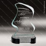 Glass Black Accented Flame Bahia Trophy Award Stone Accented Glass Awards