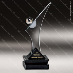 Glass Black Accented Summit Endeavour Trophy Award Stone Accented Glass Awards