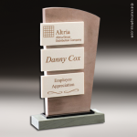 Stone Accented Coral Cay Trophy Award Stone Awards