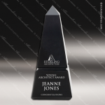 Premium Resin Silver Accented Black Obelisk Trophy Award Stone Awards