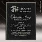 Engraved Stone AcrylaStone Plaque Black Wall Placard Award Stone Awards