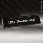 Desk Gift Engraved Black Marble Name Plate Desk Wedge Stone Awards