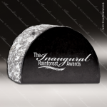 Stone Black Accented Circle Quote Ends Trophy Award Stone Awards