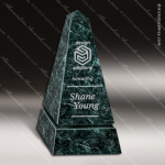 Stone Green Marble Accented Obelisk Tower Trophy Award Stone Awards