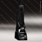 Stone Black Marble Accented Obelisk Guide Star Trophy Award Stone Awards