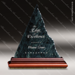 Stone Green Marble Accented Triangle Austere Heritage Trophy Award Stone Awards