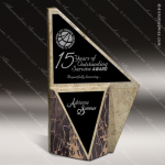 Stone Black Accented Triangle Conviction Trophy Award Stone Awards