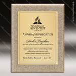 Engraved Stone AcrylaStone Metal Plate Plaque Caramel Award Stone Awards