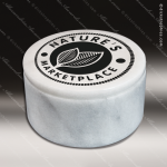 Stone White Marble Accented Round Cache Box Trophy Award Stone Awards