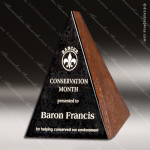 Stone Black Marble Accented Triangle Rock Solid Trophy Award Stone Awards