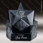 Stone Black Marble Accented Rising Star Trophy Award Stone Awards