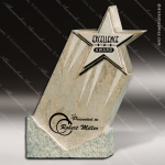 Stone White Marble Accented Shooting Star Trophy Award Stone Awards