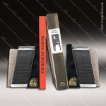 Stone Black Accented First Edition Bookends Trophy Award Stone Awards