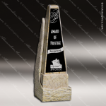 Stone Black Accented Marble Obelisk Trophy Award Stone Marble Accented Trophy Awards