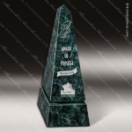 Stone Green Marble Accented Obelisk Trophy Award Stone Marble Accented Trophy Awards
