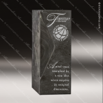 Stone Black Accented Rectangle Charcoal Tower Trophy Award Stone Marble Accented Trophy Awards
