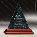 Stone Green Marble Accented Triangle Heritage Peak Trophy Award Stone Marble Accented Trophy Awards