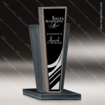 Stone Black Marble Accented Rectangle Resurgence II Trophy Award Stone Marble Accented Trophy Awards