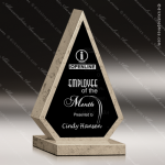 Stone Black Accented Triangle Aquila Trophy Award Stone Marble Accented Trophy Awards