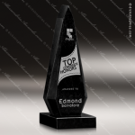 Stone Black Marble Accented Obelisk Cypher Trophy Award Stone Marble Accented Trophy Awards
