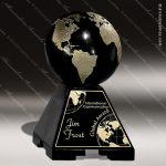 Stone Black Marble Accented Global Sphere Trophy Award Stone Marble Accented Trophy Awards