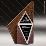 Stone Black Accented Triangle Cape Town Trophy Award Stone Marble Accented Trophy Awards