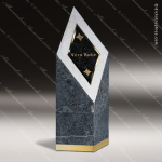 Stone Green Marble Accented Triangle Diamond Diamante Trophy Award Stone Marble Accented Trophy Awards