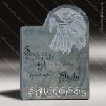 Stone Gray Slate Accented Slate Eagle Trophy Award Stone Marble Accented Trophy Awards