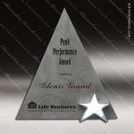 Stone Gray Slate Accented Triad Star Trophy Award Stone Marble Accented Trophy Awards