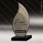 Stone Black Accented Slate Flame Trophy Award Stone Marble Accented Trophy Awards