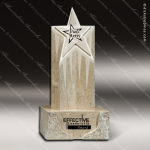 Stone White Marble Accented Superstar Trophy Award Stone Marble Accented Trophy Awards