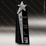 Stone Black Marble Accented Star Tower Trophy Award Stone Marble Accented Trophy Awards