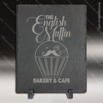 Engraved Black Slate Rectangle with Foam Pads and Stand Gift Award Stone Marble Finish Plaques